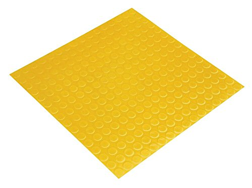Hefty Mat Anti-slip,Rubber flooring Matting for Airport,Factory,Hospital,Museum,Garage and Other public areas,19.7×19.7×0.12 inch by Hefty Mat
