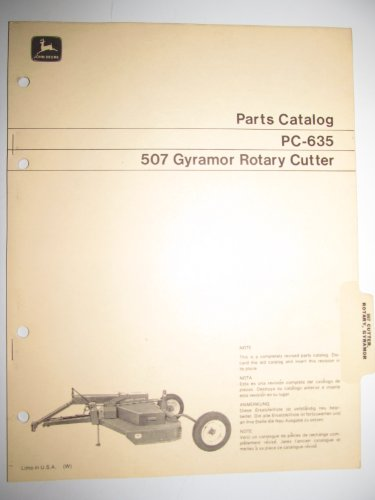 John Deere 507 Gyramor Rotary Cutter Parts Catalog Book Manual PC-635 Original