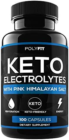 Keto Electrolytes – Keto Friendly Electrolyte Salt Tablets Supplement – 100 Electrolyte Pills