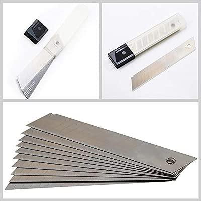 Alaskaprint 50 piezas Cuchillo cortador de cuchilla de 9 mm Cuchillo para alfombra tambi/én para artesan/ías