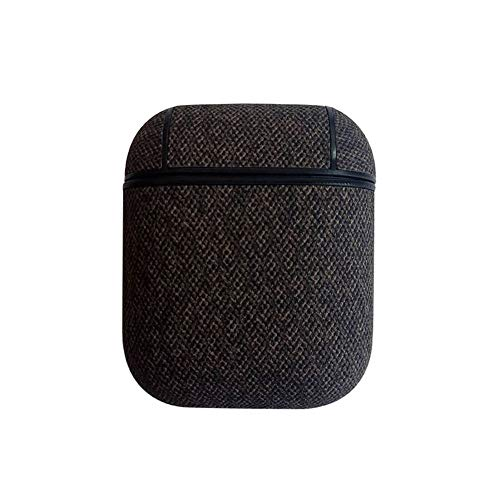 Fashion Matte Faux Leather Dust-Proof Protector Case Cover for Apple Airpods - Grey ()