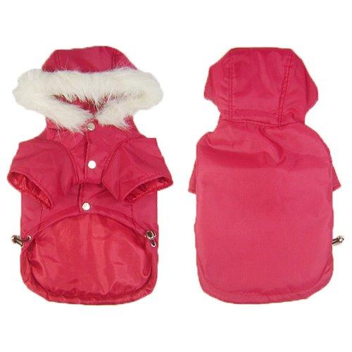 Lifeful® Large Dog Hooded Jacket Classic Design Red Color Size Medium