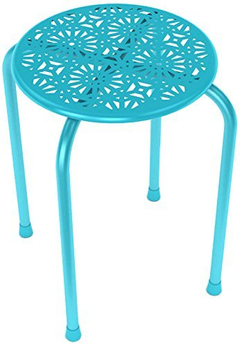 Atlantic Set Chair (Atlantic 38436213 Daisy Metal Stool44; Capri Breeze - Set Of 2)
