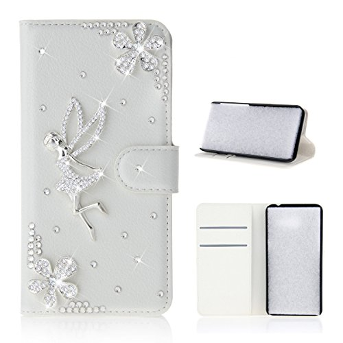 Casefirst Oukitel U20 Plus Case, Wallet Case, Leather Covers for Premium PU Leather Flip Case Cover with Card Slots & Kickstand for Oukitel U20 Plus - Flower Angel Girl