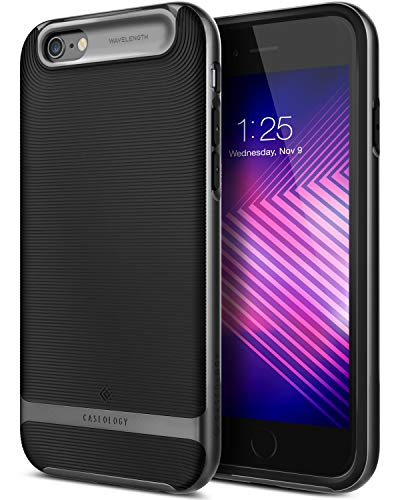 Caseology Wavelength for Apple iPhone 6S Plus Case (2015) / for iPhone 6 Plus Case (2014) - Black/Black