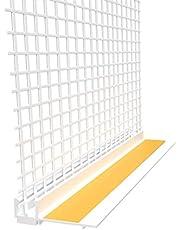 15 x pleisterlijst 9 mm met beschermende lip en met legeringsweefsel en 2,1 m (31,5 m) Apu-profiel raamstrip gips profiel kozijn profiel lijving