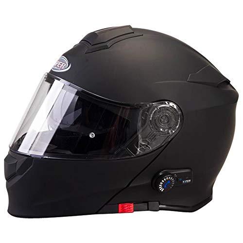 Grade A FREE Pinlock Lens Matt Black XS 3.0 Flip Up Motorcycle Motorbike Helmet Viper RS-V171 Bluetooth