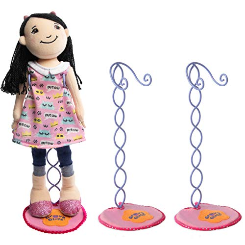 Manhattan Toy Company (3 Pack) 13 Inch Groovy Girl Doll Display Stand Set Doll Accessories Toys Dolls