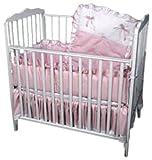 Baby Doll Bedding Pretty Pique Mini Crib/Port-a-Crib Set, Pink