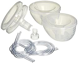 Freemie Collection Cups The Only Hands Free & Concealable Breast Pump Milk Collection System, Clear, 2528 Mm Funnels