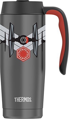 Thermos 16 Ounce Vacuum Insulated Stainless Steel Mug, Star Wars Episode VII Imperial Tie Fighter