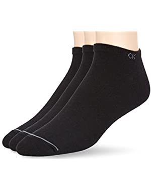 Calvin Klein 3-Pack Casual Trainer Men's Socks, Black