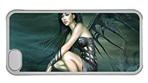 Cheap iphone carry cover Black Bat girl PC Transparent for Apple iPhone 5C
