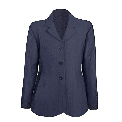 (Ovation Sport Ladies Riding Jacket - Navy Pinstripe - 24 Regular)