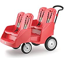 Foundations Gaggle 4 Multi-Passenger Buggy Stroller, Red