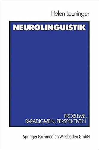 Book Neurolinguistik: 'Probleme, Paradigmen, Perspektiven'