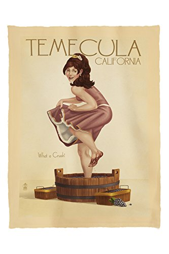 Temecula, California - Pinup Girl Stomping Grapes (60x80 Poly Fleece Thick Plush - Stores Temecula
