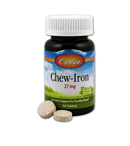Carlson Labs Chew Iron Tablets, 30 Count