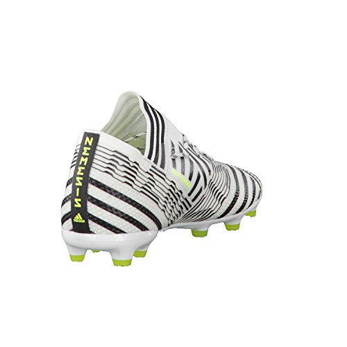 adidas Nemeziz 17.1 Fg J, Botas de Fútbol Unisex Niños Blanco (Ftwbla/Amasol/Negbas)