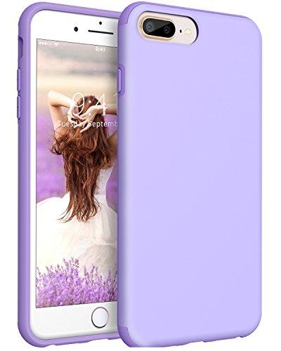 (iPhone 8 Plus Case, iPhone 7 Plus Case, BENTOBEN Heavy Duty Shock Proof Protective Phone Case, Dual Layer Hybrid Hard PC Flexible TPU Slim Case for Women, Girls - Light Purple)