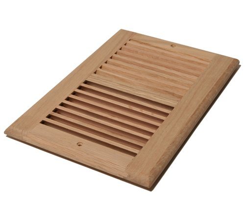 Wood Return Air Grilles (Decor Grates WL610R-U 6-Inch by 10-Inch Wood Return Air, Unfinished Oak)