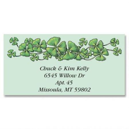 - Personalized Shamrocks St. Patrick's Day Address Labels - Set of 144 Self-Adhesive, Flat-Sheet Irish labels