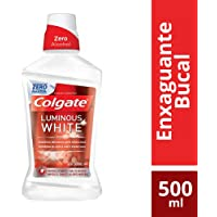 Colgate Luminous White Zero Alcohol Enjuague Bucal, 500 ml