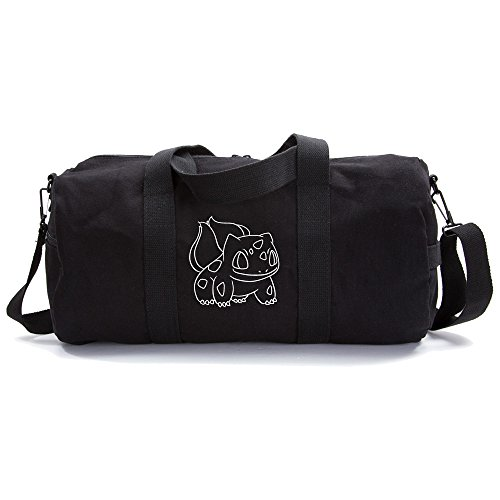 Bulbasaur Sport Heavyweight Canvas Duffel Bag in Black