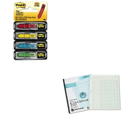 KITMMM684SHWLJG7206A - Value Kit - Wilson Jones Accounting Pad (WLJG7206A) and Post-it Arrow Message 1/2amp;quot; Flags (MMM684SH)
