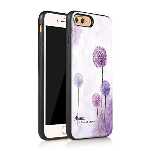 Meimeiwu Hohe Qualität TPU+PC+PU 3D muster Handyhülle Muster Case Cover Schutzhülle für iPhone 7 Plus - Löwenzahn