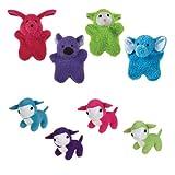 Grriggles 48-Piece Plush Pack Berber Flatties and Lambs Pet Toy