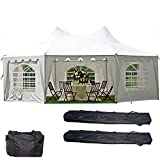 DELTA Canopies 29'x21′ Decagonal Wedding Party Tent Canopy Gazebo Heavy Duty Water Resistant White