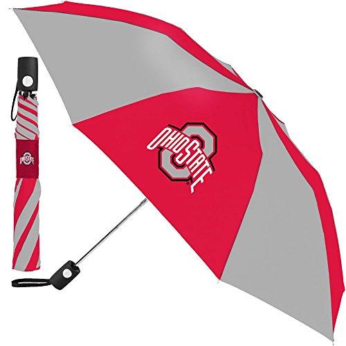 (McArthur Ohio State Buckeyes NCAA 42 Inch Automatic Folding Umbrella)
