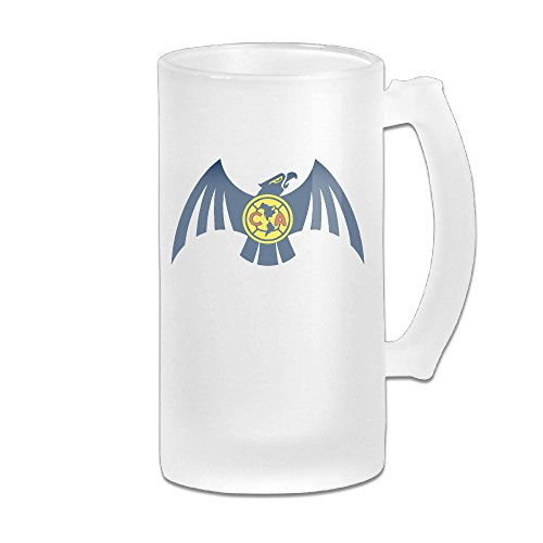 The Eagle Great Extra Large Frosted Glass Beer Mug, Personalized Beer Stein, Tea / Coffee Cups - 17 Ounce / 500ML - Frosted Eagle