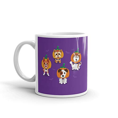 Set Of Cartoon Happy Halloween Cute Dogs Funny Mug Ceramic 11 Oz Cups]()