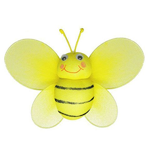 (The Butterfly Grove Bailey Bumblebee Decoration 3D Hanging Mesh Nylon Decor, Yellow Daffodil, Small, 7