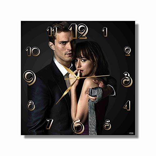 (Art time productions FBA Fifty Shades of Grey 11.4'' Handmade Wall Clock (Acrylic Glass) - Get Unique décor for Home or Office - Best Gift Ideas for Kids, Friends, Parents and Your Soul Mates)