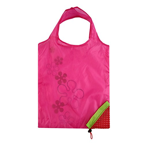 Strawberry Foldable Reusable Grocery Bags,Baynne Heavy Duty Foldable Shopping Tote Bag