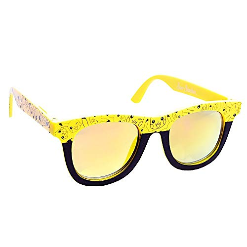 Sun-Staches SG2738 Officially Licensed PokÃmon Yellow Lens Yellow Pikachu Nerd Frame Arkaid Sunglasses, One Size, Yellow, Black -