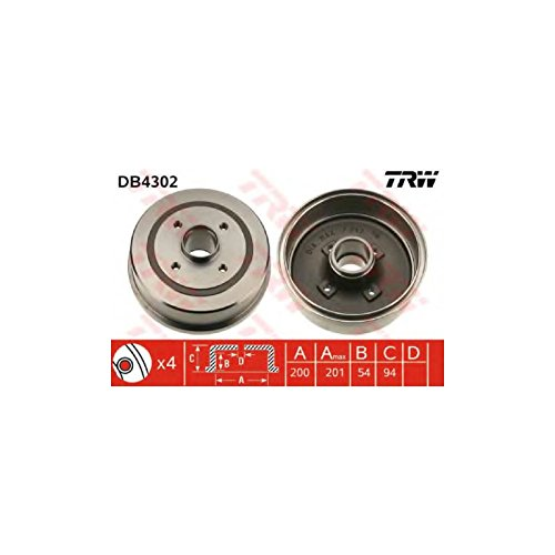 TRW DB4302 Brake Drums: