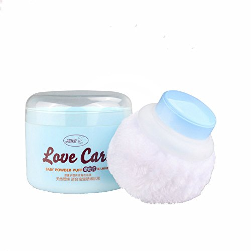 Baby Beauty Cosmetic Villus Powder Puff Sponge Makeup Box Tool Container Kit ()