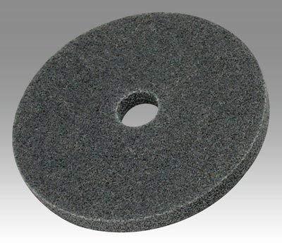 3M Scotch-Brite XL-UW Unitized Silicon Carbide Soft Deburring Wheel - Very Fine Grade - Arbor Attachment - 6 in Diameter - 1/2 in Center Hole - 1/2 in Thickness - 22870 [PRICE is per CASE] by 3M