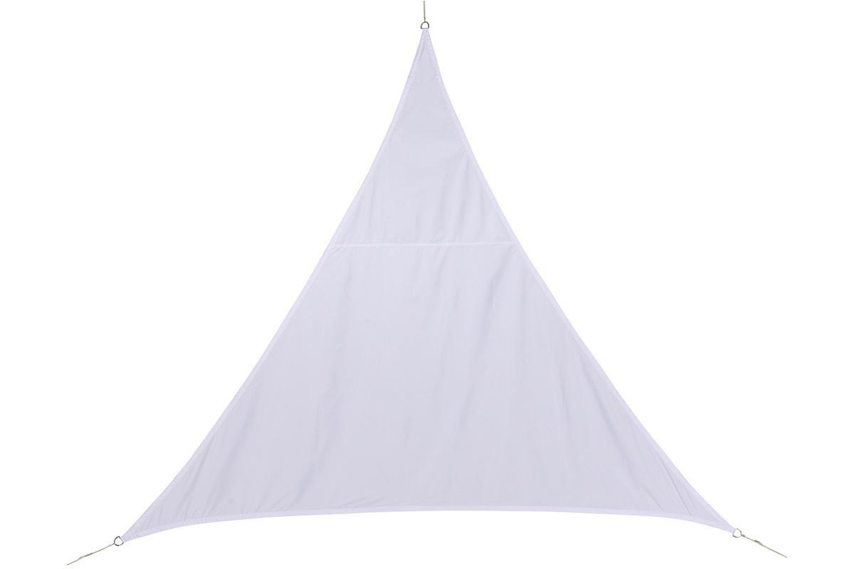 Toile solaire Voile dombrage triangulaire 2 x 2 x 2 m en tissu d/éperlant Coloris BLANC