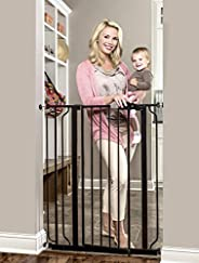 Regalo Easy Step Extra Tall Walk Thru Gate, Bonus Kit, Includes 4-Inch Extension Kit, 1 Pack of Pressure Mount