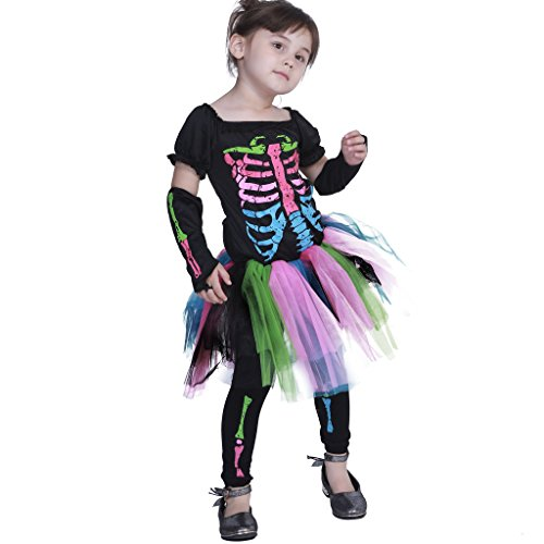 EraSpooky Girls Funky Punky Bones Costume ()