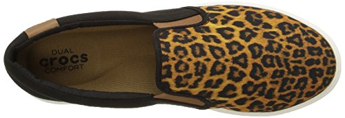crocs CitiLane Slip-on Sneaker - Zapatillas para mujer Multicolore (Leopard/Black)
