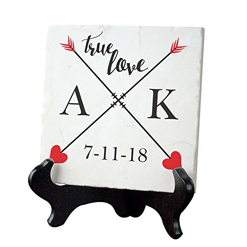 GiftsForYouNow True Love Personalized Tumbled Marble Plaque