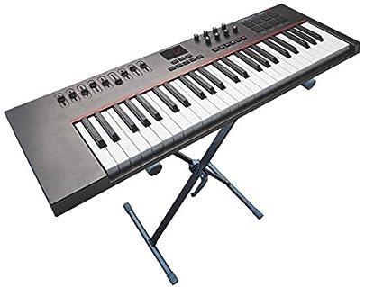 Soporte para teclado (cabe para Yamaha Casio Korg Roland) Keyboard S de piano piano piano digital Sintetizador Stage Piano-Soporte trípode Piano Teclado X ...