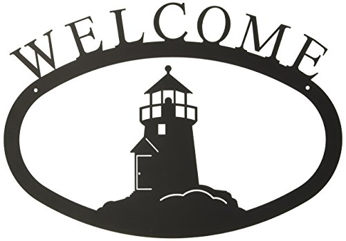 17.5 Inch Lighthouse Welcome Sign Large
