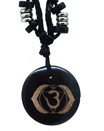Men Women Heart Throat Crown 3rd Eye Root Solar Plexus Sacral Chakra Pendant Neckalce (Third Eye)